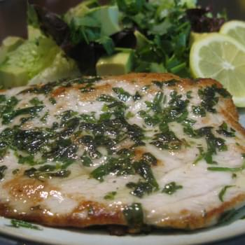 Pan-Seared Tarragon Amberjack (Whitefish) Fillet