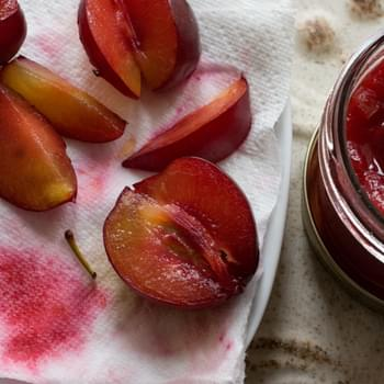 Rosewater Plum Compote
