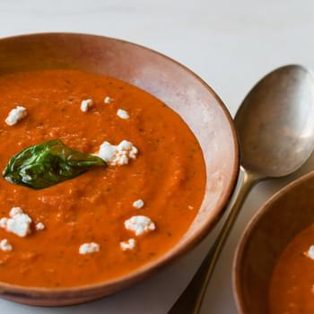 Creamy Roasted Tomato & Basil Soup