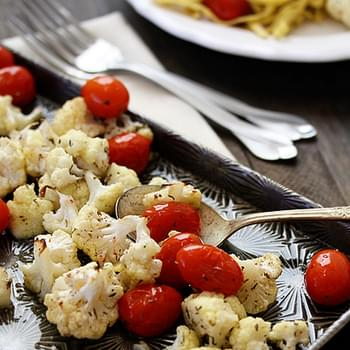 Roasted Cauliflower and Tomatoes