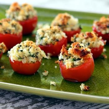 Bread and Herb Butter Stuffed Cherry Tomatoes - Recipe with Nature's Pride Bread