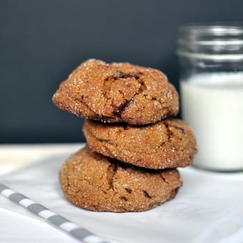 Ginger Molasses Cookies with Chocolate Chunks