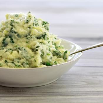 Colcannon with Leeks and Kale