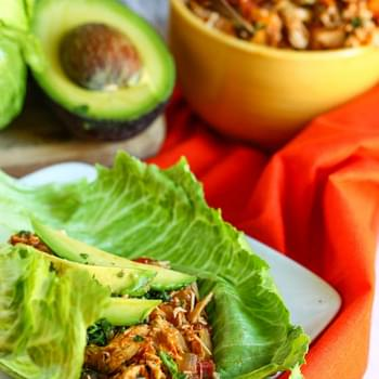 Crock Pot Tex-Mex Chicken Lettuce Wraps
