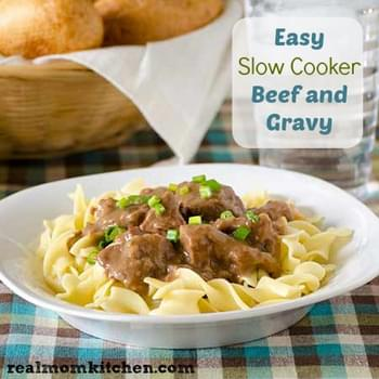 Easy Slow Cooker Beef and Noodles