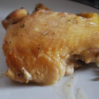 Crock Pot Garlic Rosemary Chicken Thighs