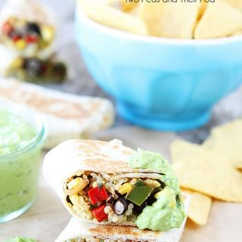Crispy Black Bean Quinoa Burritos