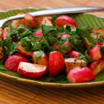 Sauteed Radishes with Vinegar and Herbs
