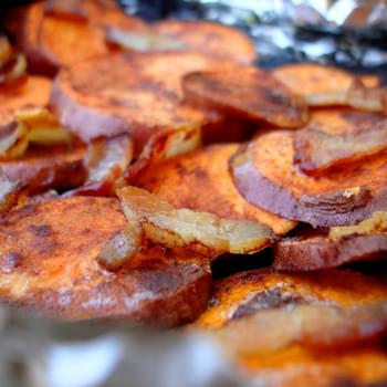 Cinnamon Bacon Backyard Sweet Potatoes