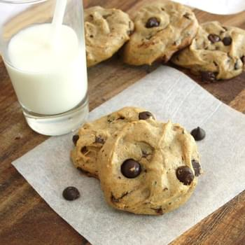 Flourless Peanut Butter & Banana Chocolate Chip Cookies