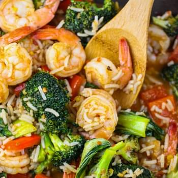 Spicy Thai Shrimp Skillet