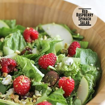 Red Raspberry Spinach Salad