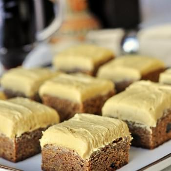 Gingerbread Blondies with Molasses Buttercream Frosting