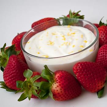 Lemon Cheesecake Fruit Dip