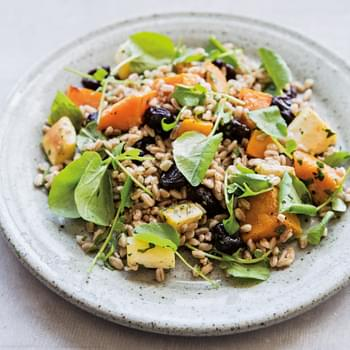 Farro with Winter Vegetables and Watercress