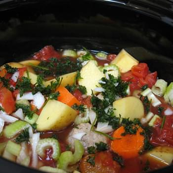 Crock Pot Meatball & Vegetable Soup
