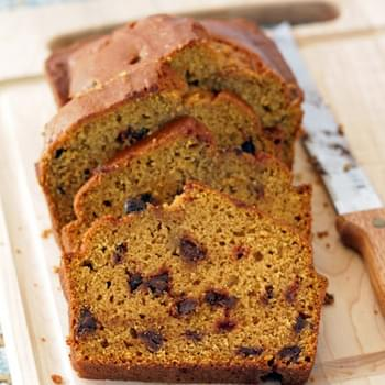 Peanut Butter Pumpkin Chocolate Chip Bread