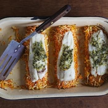Baked Flounder With Parsnips And Carrots