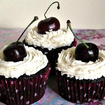Black Forest Cupcakes aka Blackhawk Stanley Cupcakes