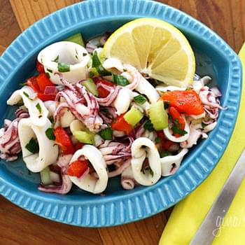 Chilled Calamari Salad with Lemon and Parsley