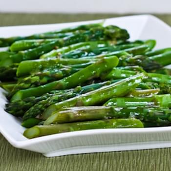 Barely-Cooked Asparagus with Lemon-Mustard Vinaigrette