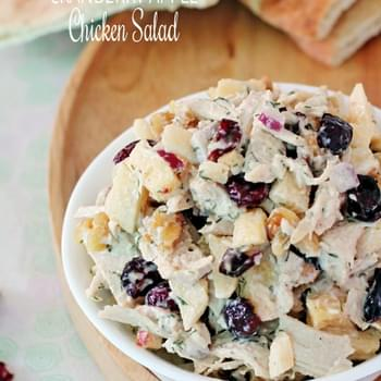 Cranberry Apple Walnut Chicken Salad