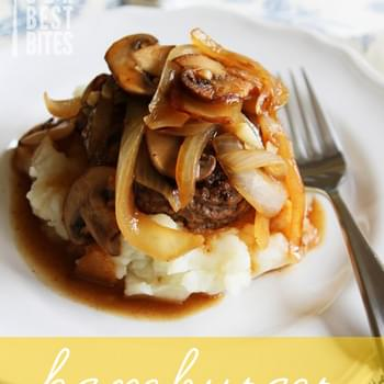 Hamburger Steak with Onion & Mushroom Gravy