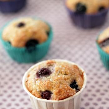 Sweet Blueberry Corn Muffins