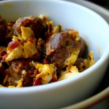 Bison Brat Breakfast Scramble