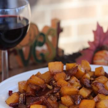Thanksgiving Side Dish: Maple Bacon Pecan Roasted Butternut Squash