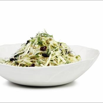 Kohlrabi and Cabbage Salad with Maple Lemon Dressing