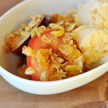 Roasted Fruit with Streusel Topping