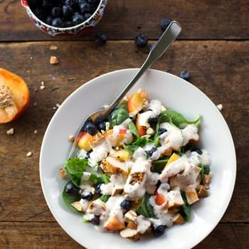 Chicken and Nectarine Poppy Seed Salad