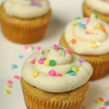 Vanilla Bean Coconut Flour Cupcakes and Teaching Children About Kindness