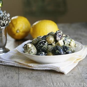 Lemon Garlic Herb Marinated Olives