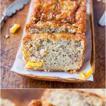 Peach Mango Coconut Oil Banana Bread