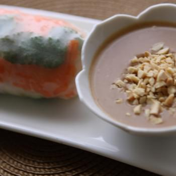 Peanut Sauce for Summer Rolls…Gluten Free, Vegan and Yummy!