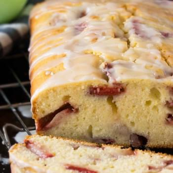 Strawberry Buttermilk Cake with Lemon Glaze