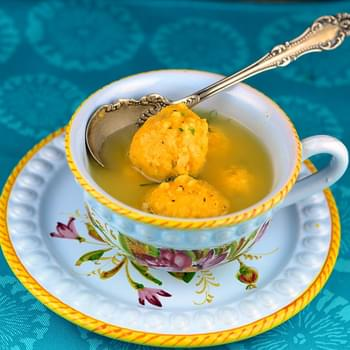 Sweet Potato and Cream Cheese Matzah Balls