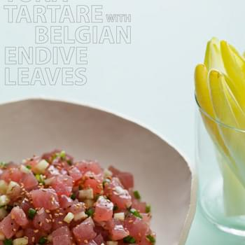 Tuna Tartare with Belgium Endive Leaves