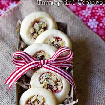 Cherry Ginger Thumbprint Cookies