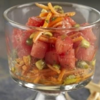 Carrot, Pistachio and Watermelon Salad