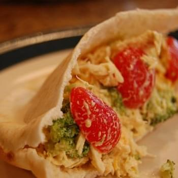 Chicken Broccoli Picnic Pita Pockets