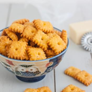 Homemade Cheez-It Crackers