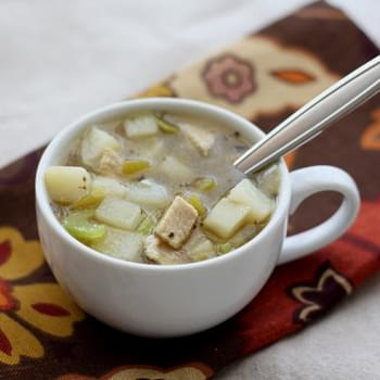 Green Chile Chicken and Potato Soup