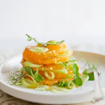 Orange Fennel Salad with toasted Fennel Vinaigrette