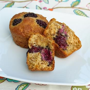 Blackberry Bran Muffins