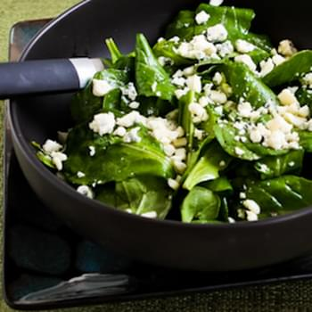 Arugula and Gorgonzola Salad with Balsamic Vinegar
