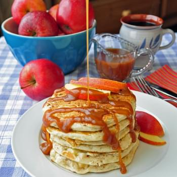 Caramel Apple Buttermilk Pancakes