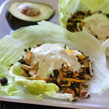Turkey Santa Fe Lettuce Wraps